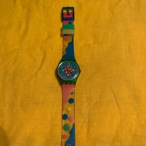 🔥1DAYVINTAGE LADIES SWATCH WATCH PELOTA 1993 MINT